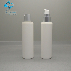 pe plastic bottle silver aluminum pump spray cap