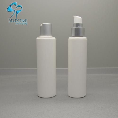 pe plastic bottle silver aluminum pump spray cap