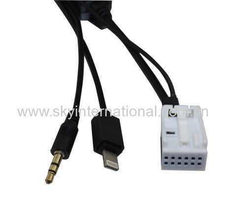 AUX Cable for VW RCD210 310 510 for iPhone 5 6 6S charge and play music