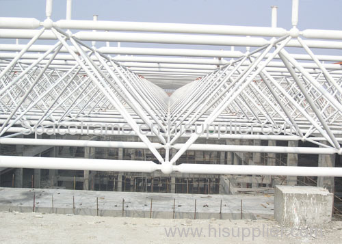 Steel structure roofing space frame canopy steel building shed