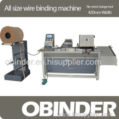 Obinder all size wire binding machine (no need change tool)