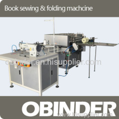Obinder automatic book(passport) thread & folding machine