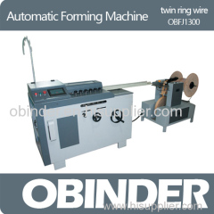 Obinder Twin Ring Wire Forming Machine