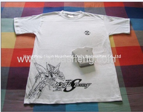 Different Shapes of Compressed Cotton T-shirt