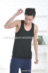 Apparel & Fashion Leisure Wear Men's Seamless T-shirt Tank Bamboo Sleeveless Muscle Tee Shirt Plain Colors