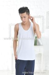 Apparel & Fashion Leisure Wear YUSON Seamless Bamboo Square Cut Tank Tops For Men