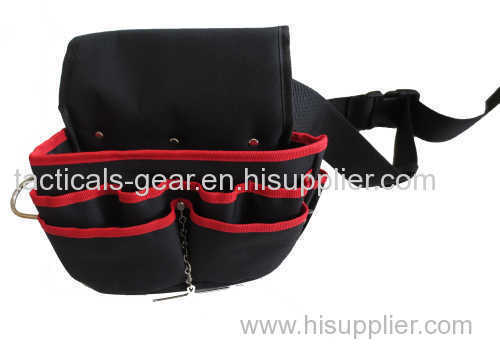 fanny pack with metal bracket for suspending a roofing hammer or other hammers
