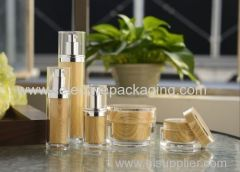 acrylic cosmetic face cream jar lotion bottle WTP cap