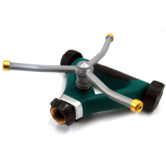 Metal 3-arm lawn water wheel sprinkler