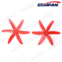 5040 glass fiber nylon adult CW CCW Propeller with 6 blades for rc toys airplane