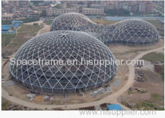 Prefabricado gran espacio espacio marco cúpula seco carbón cobertizo