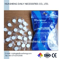 compressed towels with sealed bag 50pcs