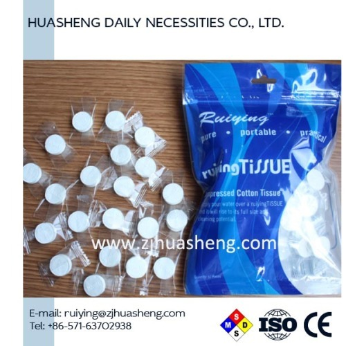 Plastic Bag Compressed Napkins 50pcs