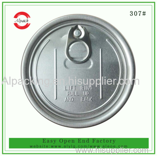 307 aluminum easy open lid for dried fruit canning