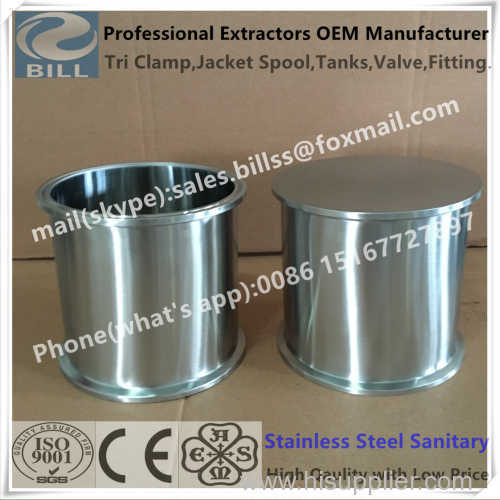 Stainless Steel Sanitary Tri Clamp Spool with Flat base 4