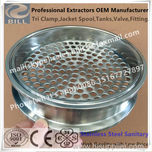 Stainless Steel Sanitary Tri Clamp Pipe Spool with Plate
