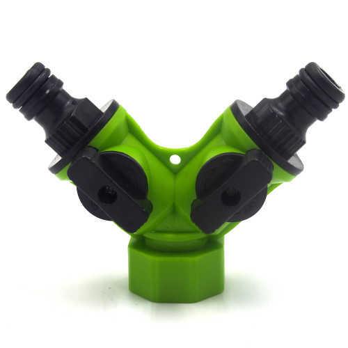 Plastic Y garen hose tap connector