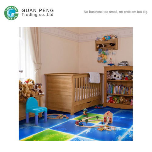 Shiny Color Fusion PVC Liquid Floor Mat For Children Playing