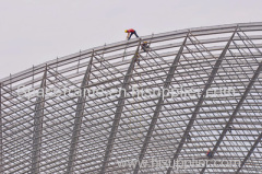 Steel structure roofing system space frame canopy