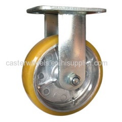 Aluminum core caster wheels