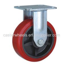 Rigid Pu caster wheels