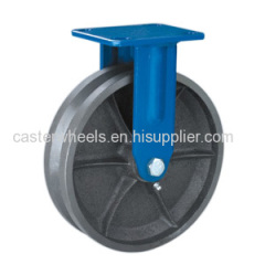 Rigid V groove cast iron casters wheels