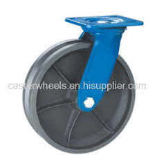 Swivel V groove cast iron casters wheels