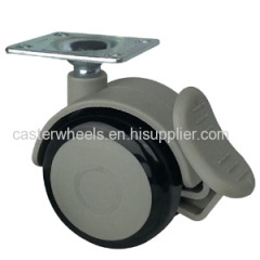 Medical cart caster wheels