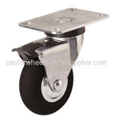 Soft rubber furniture casters