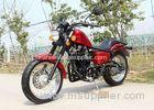 Red 250cc Chopper Motorcycle 90 km / H Low Oil Consumption With 5 Manual Transmission