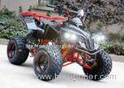 Single Cylinder 125cc Atv Quad Bike Four Wheelers 4 X 4 With Rear Rack / Bright Headlights