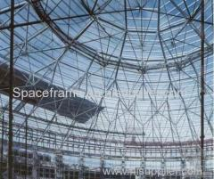 Steel building coal storage shed steel space frame dome