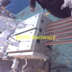 six cavities PVC angle profile extrusion line