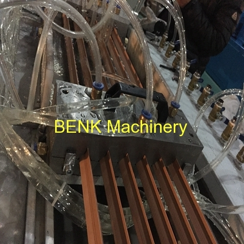 BENK Machinery China PVC six cavities angle profile extrusion machine manufacture