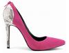 Faux suede back zipper pointy toe dress high heel shoes