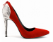 Faux suede back zipper pointy toe dress high heel ladies shoes