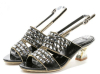 Ladies open toe rhinestone chunky heel sandals