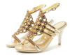 Open toe ladies high heel rhinestone sandals