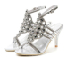 Open toe women high heel rhinestone sandals