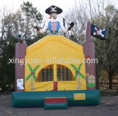 Commercial Pirate Ship Inflatable Bouncer Castle