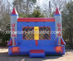 Commercial Rocket Bouncer Castle Inflatable Bounce House