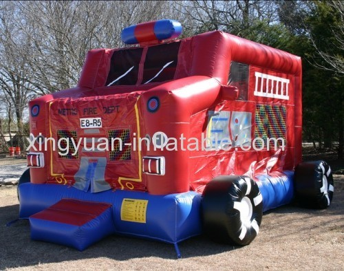 Fire Truck Castle Inflatable Bouncer For sale