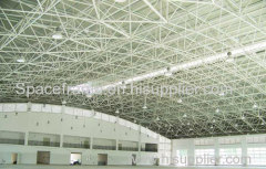 Steel structure space frame indoor tennis court roofing