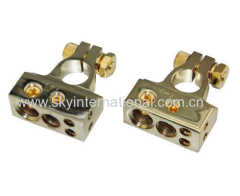 Gold Plated 1X2GA 1X4GA 2X8GA Battery Terminal Car battery post