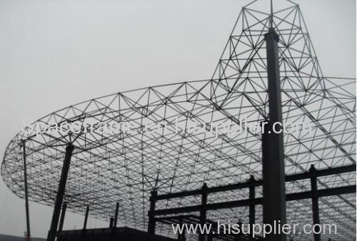 Steel space frame roof system steel building roofing