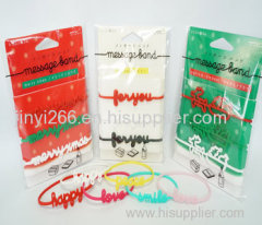 OEM high quality printing or debossed silicone wrist band on sale