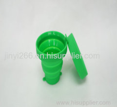 Promotional collapsible travel cups silicone foldable cup drinking silicone cup