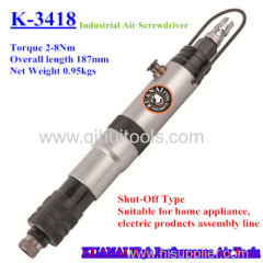 Automatic clutch air screwdriver controlling specific output of the torque