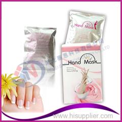 Mão, cuidado, natural, ingrediente, mão, clareando, máscara, luva