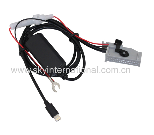 AUX Cable for RNS-E Navigation Aux Input Adaptor 32-Pin filter For Audi A4 A6